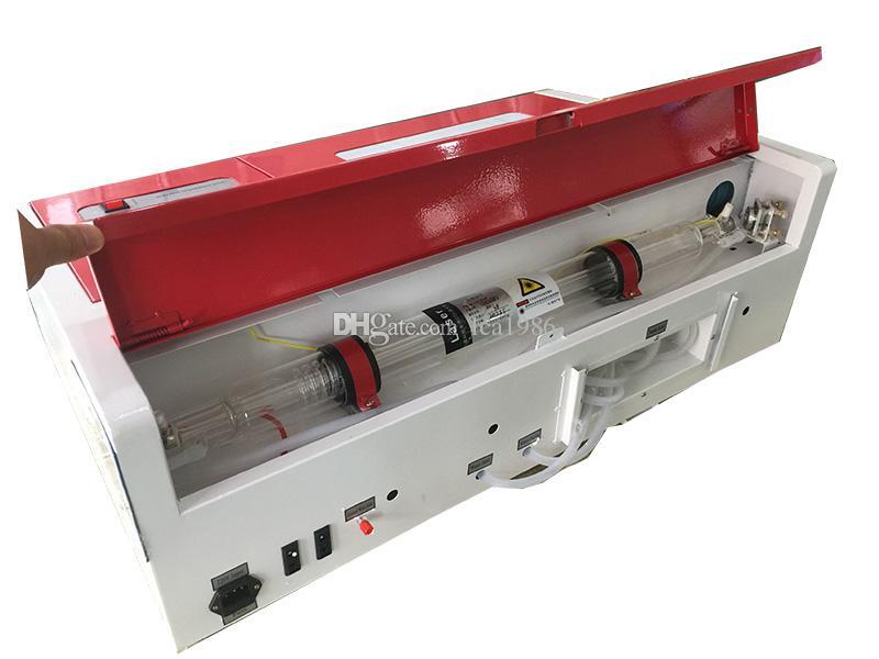 3020 40w 50w مصغرة ليزر CO2 نقش وآلة قطع ، طاولة العمل العسل للحصول وتقاسم المنافع ، والاكريليك وغيرها من المواد غير المعدنية