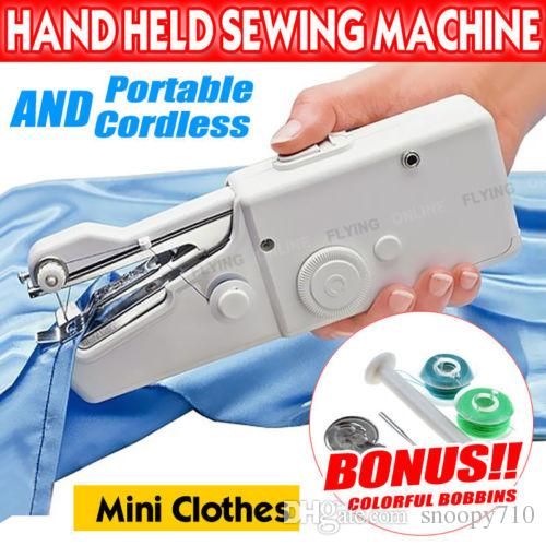 Portable Handheld Cordless Mini Sewing Machine Hand Held Stitch Home Gorgeous Portable Hand Sewing Machine