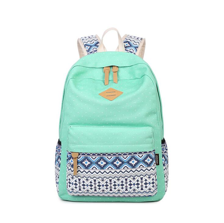 Wholesale Women Backpack School Bag Teenagers Girls Vintage Casual Printing School  Bags Ladies Backpack Female Back Pack Shoulder Bag Toddler Backpack Kelty  ... 59e9136151064