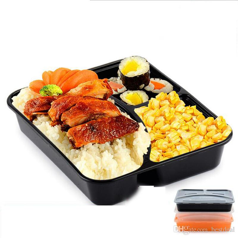 2019 disposable meal prep box with lid 3 compartments meal prep containers durable food storage. Black Bedroom Furniture Sets. Home Design Ideas