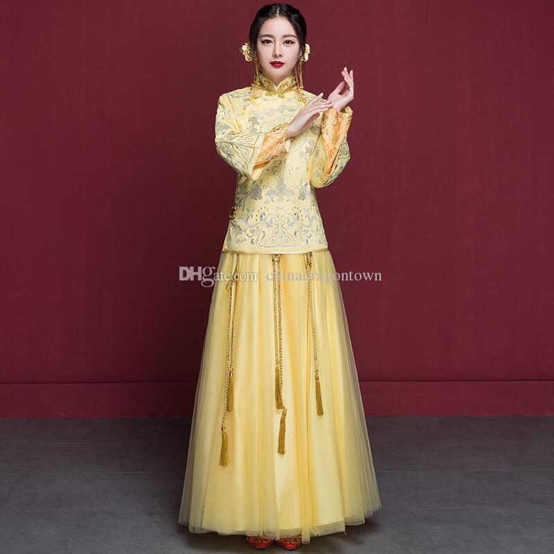2018 New Ethnic Clothing Especial Fashion Chinese Bride Wedding Gown ...