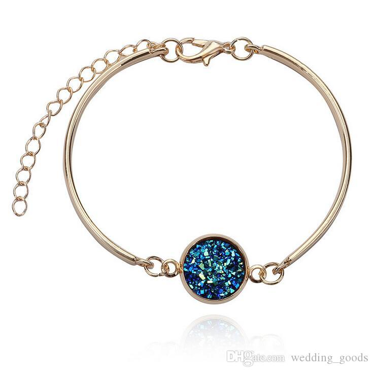 New arrival Selling silver heart bracelet multicolor crystal love bracelet natural stone jew FB036 a Beaded, Strands