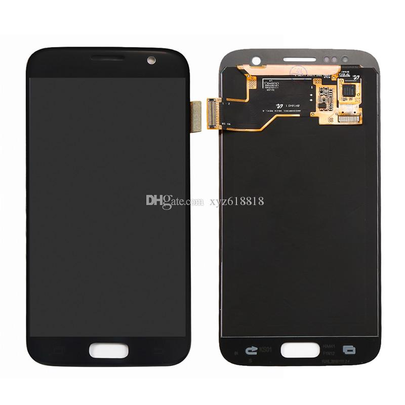 LCD Display Touch Screen Glass Panel Digitizer With Full Assembly For Samsung Galaxy S7 G930 G930A G930T G930V G930P Black White Golden