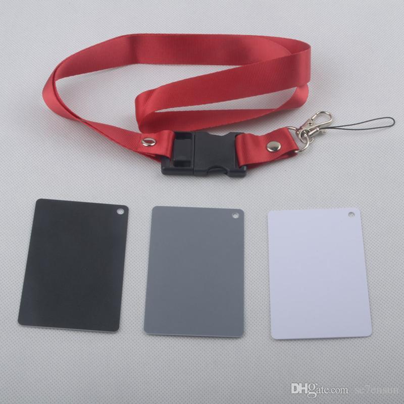 Tarjeta de balance de blancos 18% Tarjeta gris gris. Uso para video, réflex digital y película. Calibración personalizada de cámaras de tarjetas de verificación. Fotografía Premium de Exposición
