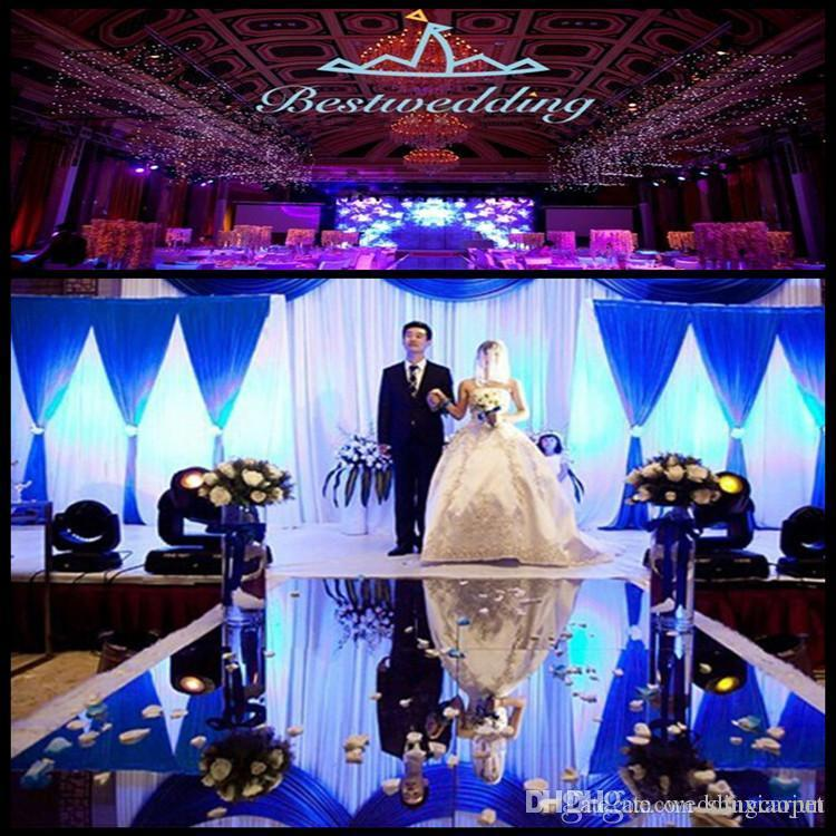 New Arrival 12m Wide 10m Shiny Wedding Centerpieces Decor Runner
