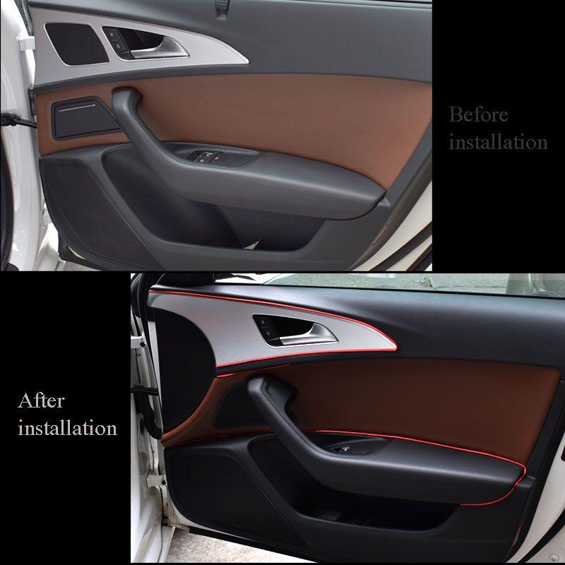15 M Araba Kalıp Trim Şerit Iç Dekorasyon Iplik Dashboard Sticker Çıkartmaları Kapı Hava Çıkış Oto Aksesuarları Araba Styling