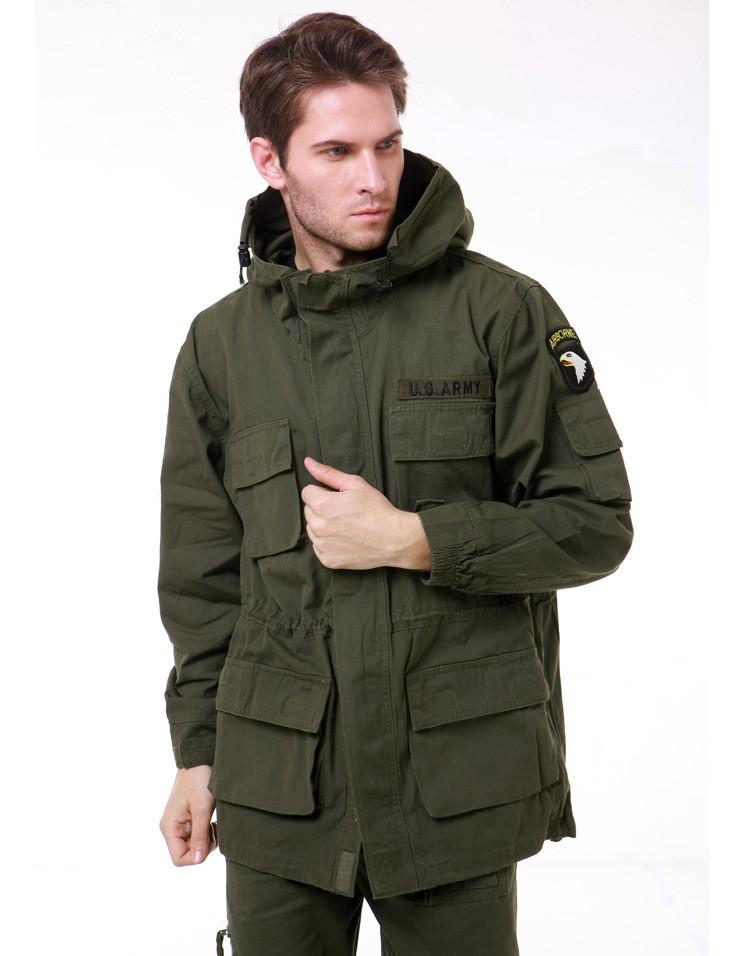 11cbc0d3dff Mens Winter Military Cotton Brand Jackets 101st Airborne Division Wadded  Warm Hooded Jacket Men Army Trench Coat Online with  85.03 Piece on  Hawk200810 s ...