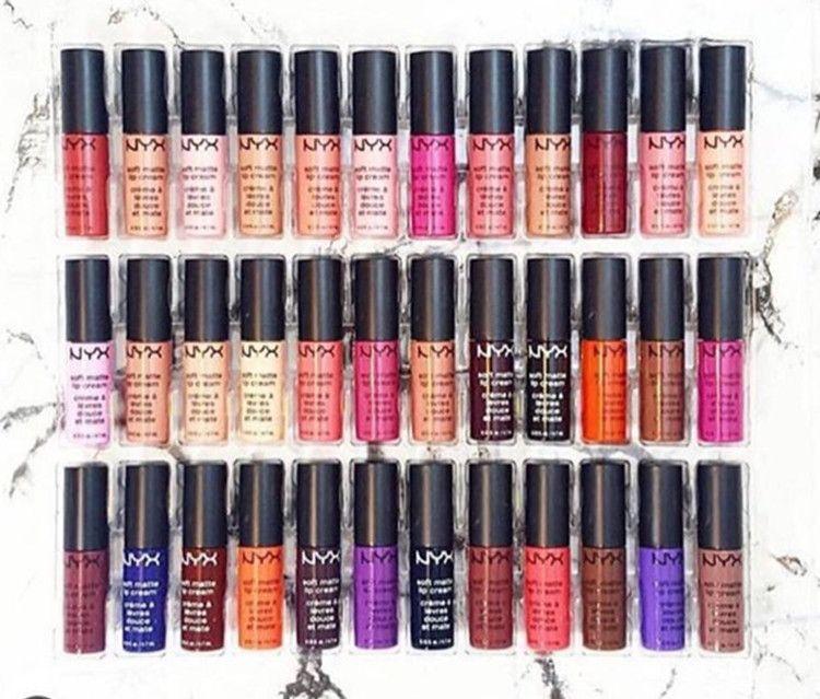 Dropshipping NYX SOFT MATTE CRÈME À LÈVRES MIX nyx et Set Rouge à lèvres brillant à lèvres Matte No Fading Sofe Velvet Lip Makeup Set 36 couleurs
