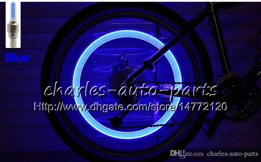 1USD الصمام فلاش الاطارات ضوء دراجة عجلة صمام كاب ضوء سيارة دراجة دراجة نارية دراجة نارية الصمام عجلة الاطارات مصباح ضوء السيارة 9 ألوان للبيع