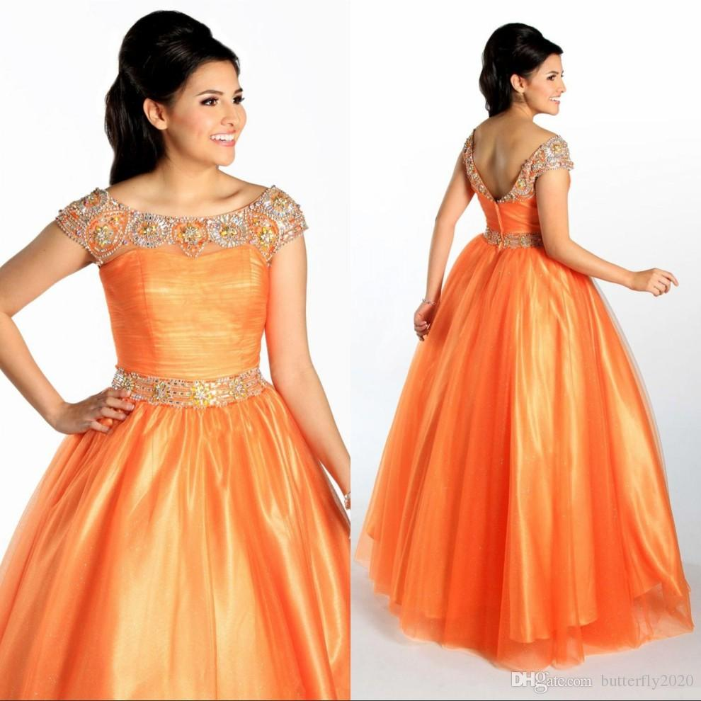 Excepcional Vestidos De Dama De Corta Naranja Ideas Ornamento ...