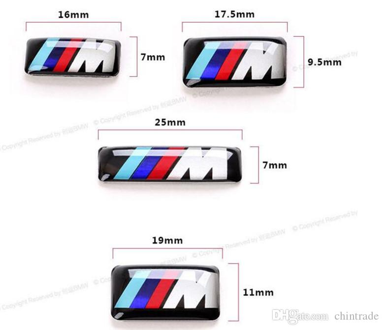 Para volante, auto cuerpo StickerMpower /// M Wheel Badge 3D emblema autoadhesivo pegatina calcomanías para bmw serie M M1 M3 M5 M6