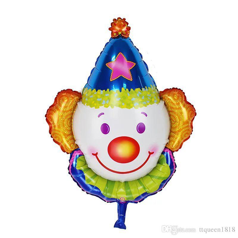 80*63cm New Clown Heads Aluminum Balloons. Children Toys Party Birthday Decor Balloons