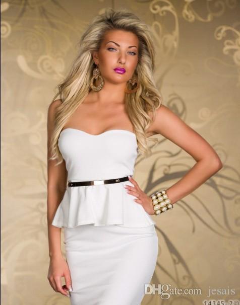 パーティードレス女性のファッションセクシーなドレスホットクラブを着用ファッション女性の悲惨な赤と白さまざまな色の色(サイズ:M、L、XL)