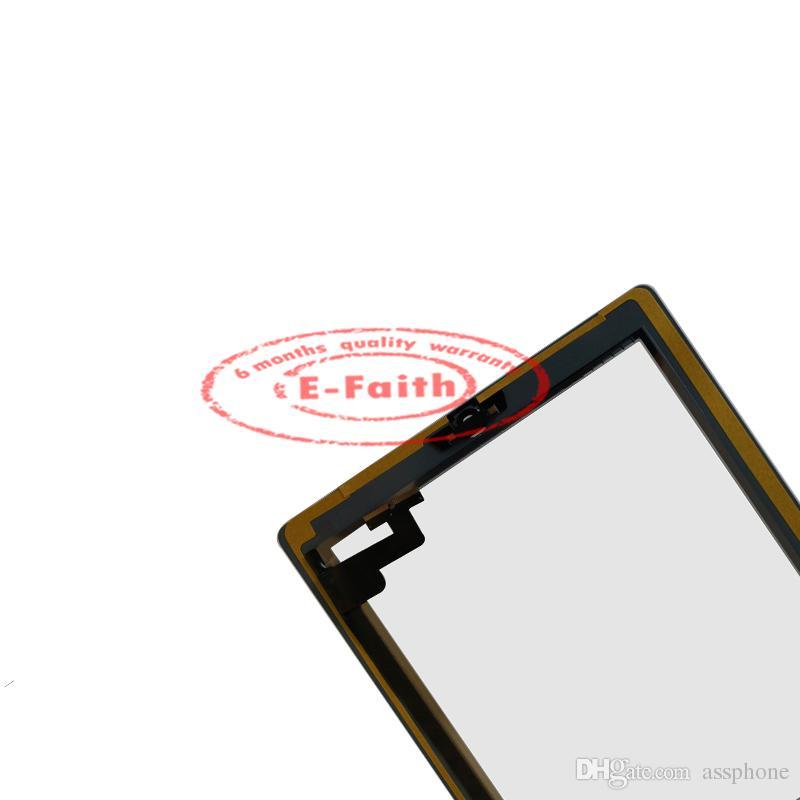 İPad 2 için Siyah Dokunmatik Ekran Digitizer Ev Düğmesi + Yapıştırıcı Ücretsiz DHL kargo ile Değiştirme
