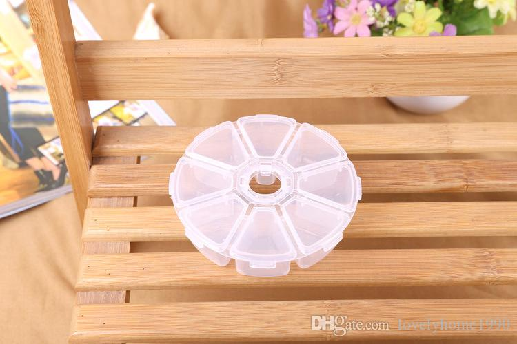 8 Lattices Plastic Storage Box Case For Beads Jewelry Display Acrylic Organizer Container Box For Jewelry