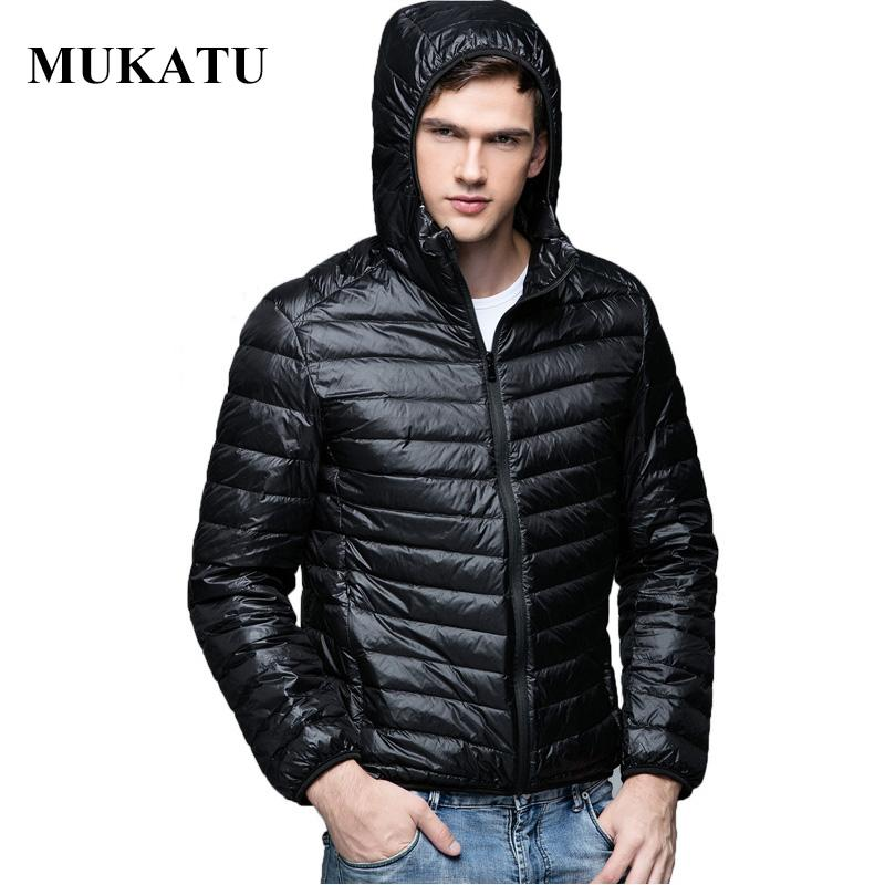 Neue Herbst Winter Ultra Dünne Ente Unten Männer Jacke Plus Größe Xxxl Kapuzenjacke Für Männer Mode Herren Oberbekleidung Mantel Mutter & Kinder