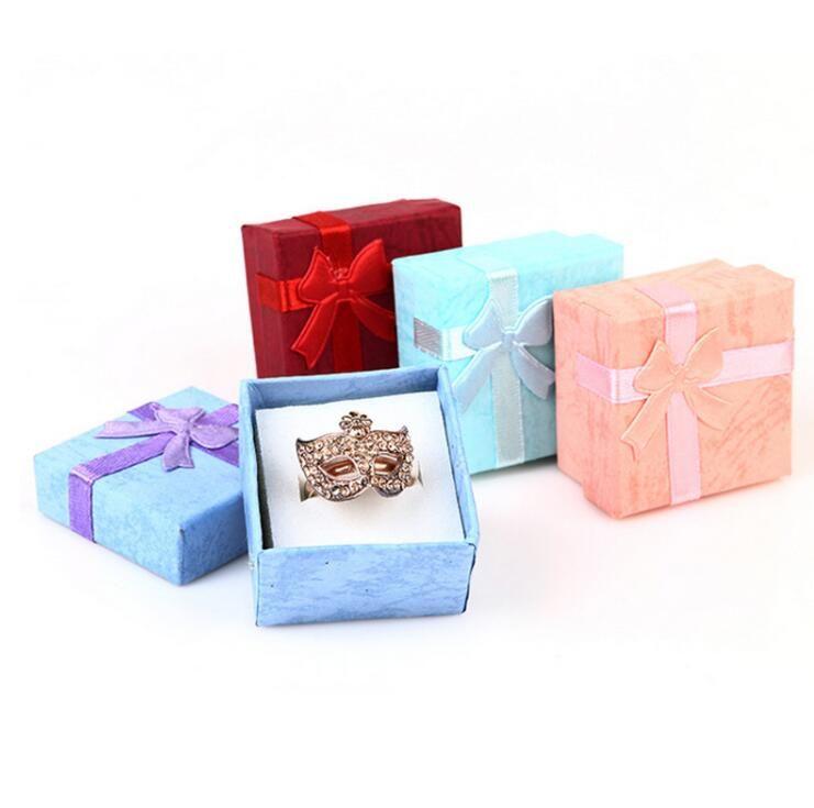 best colorful new 4*4cm jewery organizer box rings storage cute box Cute Organizer Box