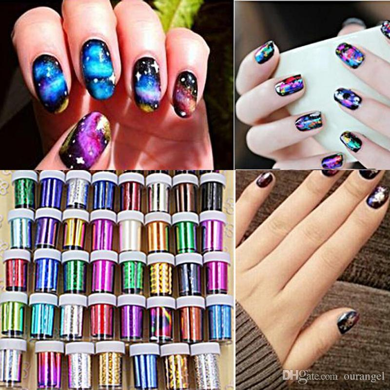 Fashion Nail Art Transfer Foil Sticker 3d Nail Polish Wrap Nail Tip ...