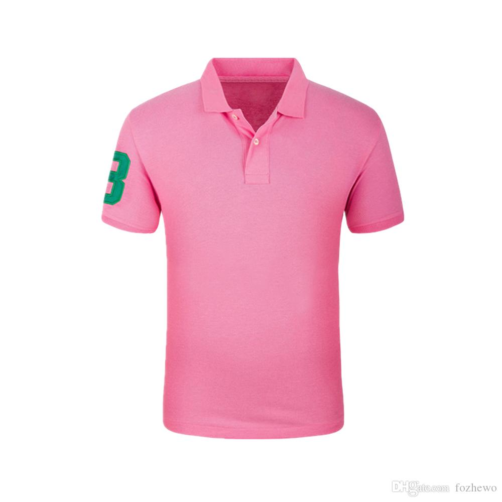 2019 2018 Summer New Mens Polo Shirt Brands 100cotton Slim Fit