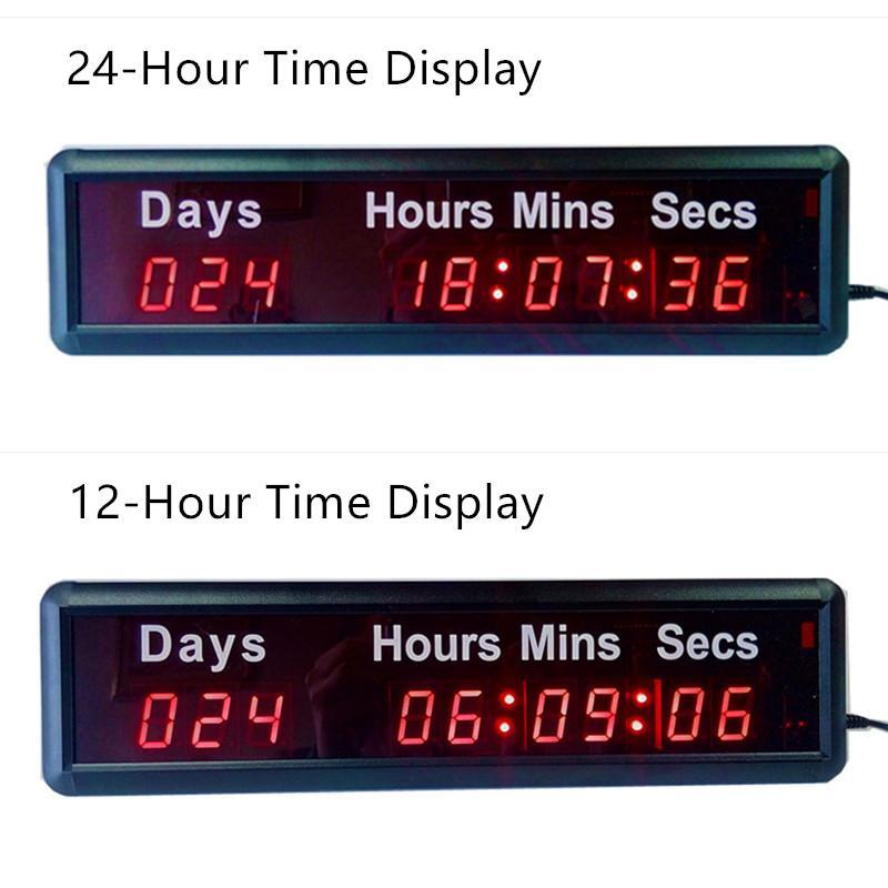 Wholesale- THE DAYS COUNTDOWN TIMER Beautiful Large LED Digital Wall Clock  Modern Design Home Decor 3D Decoration Decorative Digital-watch