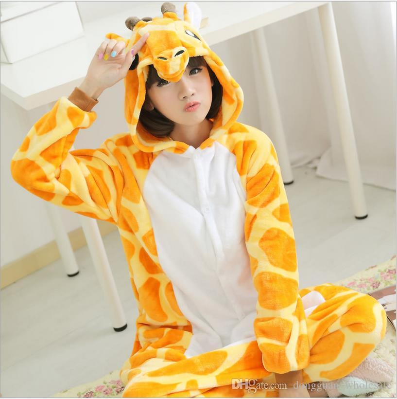 Wholesale Animal Stitch Unicorn Panda Bear Koala Pikachu Onesie Adult Unisex Cosplay Costume Pajamas Sleepwear For Men Women
