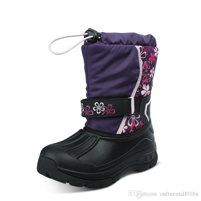 Kids Snow Boots Girls Boys Snow Boots Flower Fashion Winter Shoes Children Boots