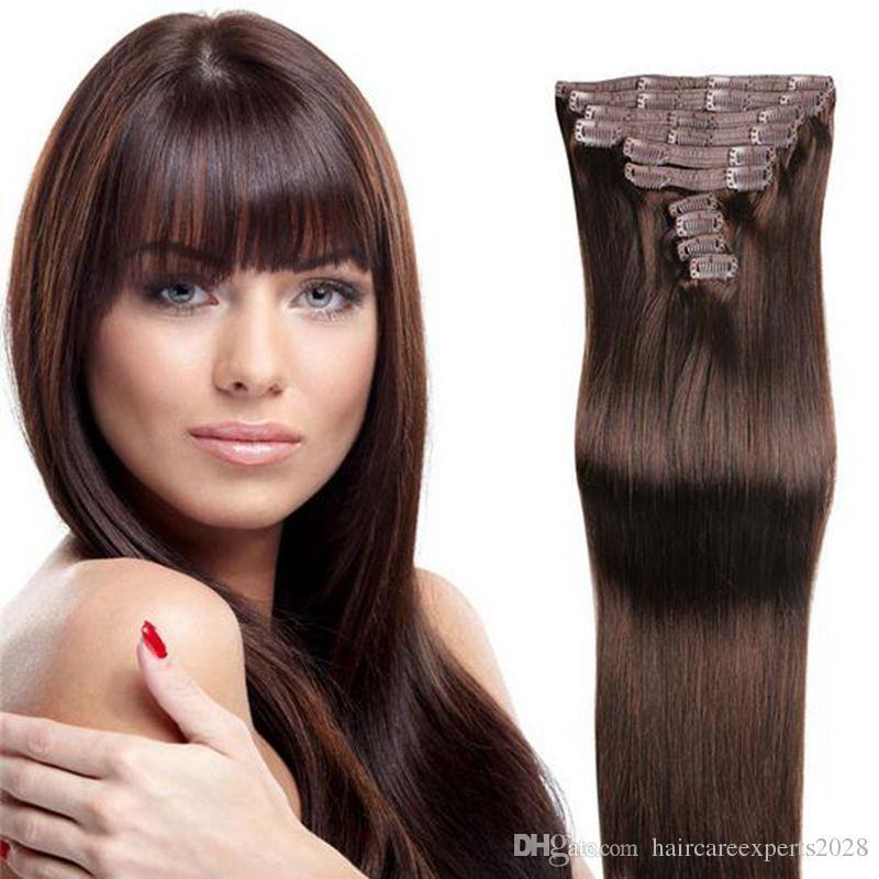Original Brazilian Human Hair 14inch 26inch Clip In Human Hair