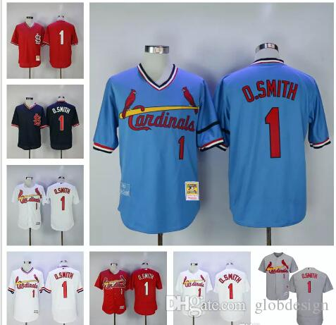 17e8303f3 ... Ozzie Smith Jersey St. Louis Cardinals Baseball Jerseys BP Cooperstown  Vintage Flexbase Cool Base Pullover ...