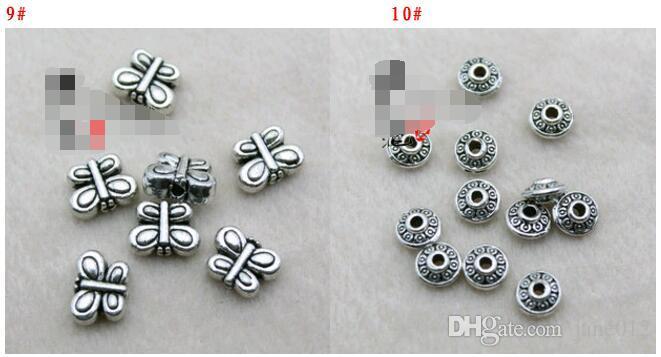 Quente! Tibetan Silver Barrel Espaçador Beads Resultados Retro Antique Prata Solta Grânulos Mix Estilos Acessórios De Jóias