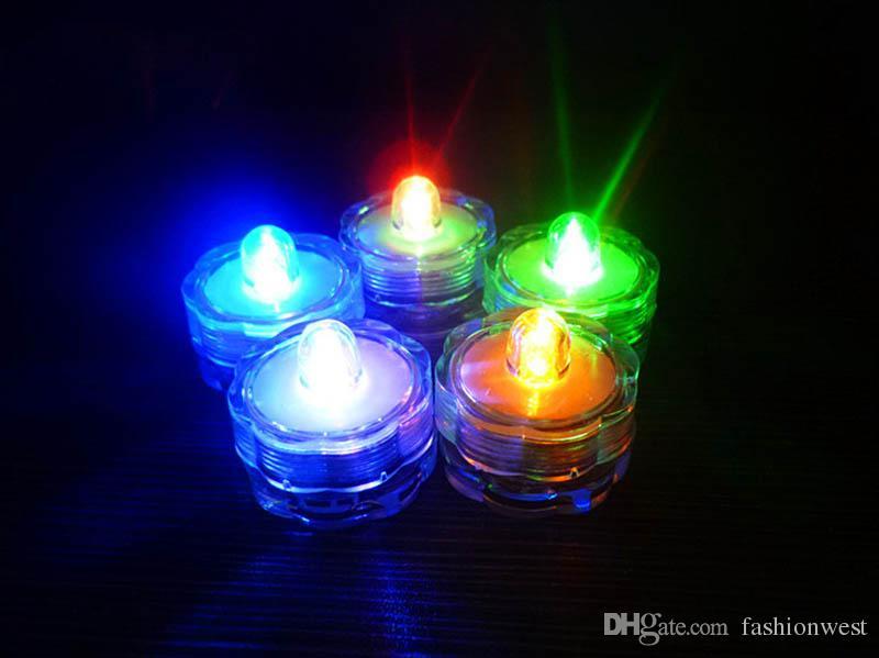 2016 Patrón Vela Solo Led Sumergible Boda Centro de mesa de decoración Decoración Luces de té Florero Luz impermeable Decoración de fiesta de cumpleaños
