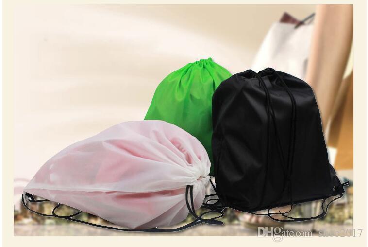 Bolso do pacote de poliéster 210D Oxford pano estiramento corda corda puxar ombro saco de desporto saco