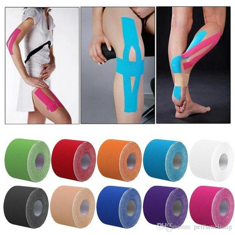 hot Kinesiology Sports Therapy Tape 5cmx5m Kinesio Tape Water Resistant Elastic Therapeutic Tape Muscle Therapeutic Kinesio Tap JF049