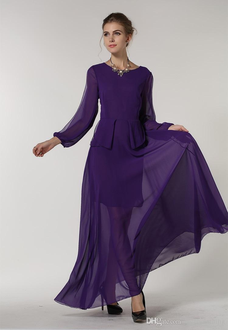 Encantador Maxi Vestidos De Dama De Color Púrpura Foto - Vestido de ...