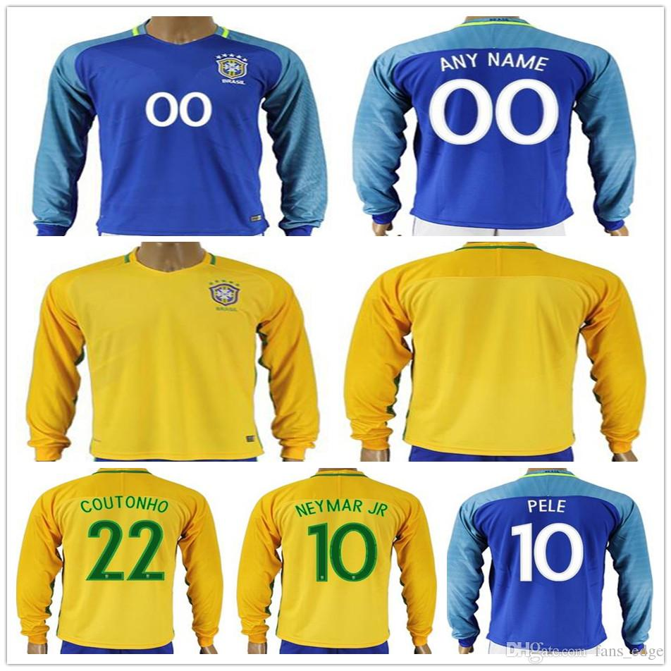 4c13133f0a9 ... away soccer country jersey 222b6 9ac63  czech mens brazil long sleeve football  jersey shirt 10 neymar jr pele ronaldinho coutonho david luiz