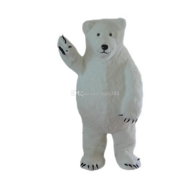 White Polar Bear Mascot Costumes Cartoon Character Adult Sz 100% Real Picture66