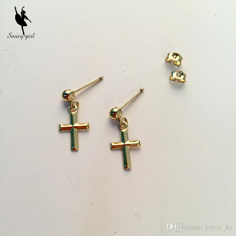 New !Fashion Jewelry Cute Gold Color Geometric Earrings Best Gift ...