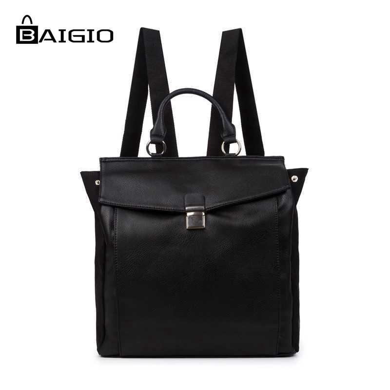 dd67860ad9cac Wholesale Baigio Men S Vintage Pu Leather Backpack Multi Pockets Travel  Rucksack Top Quality Brand Fashion Preppy Style Men S Backpacks Backpacks  For Men ...