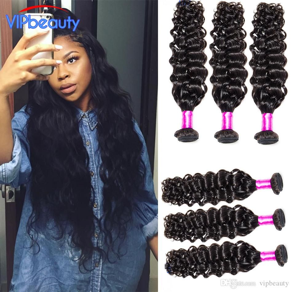 Vip Beauty 8a Indian Water Wave Virgin Hair Extension Unprocessed