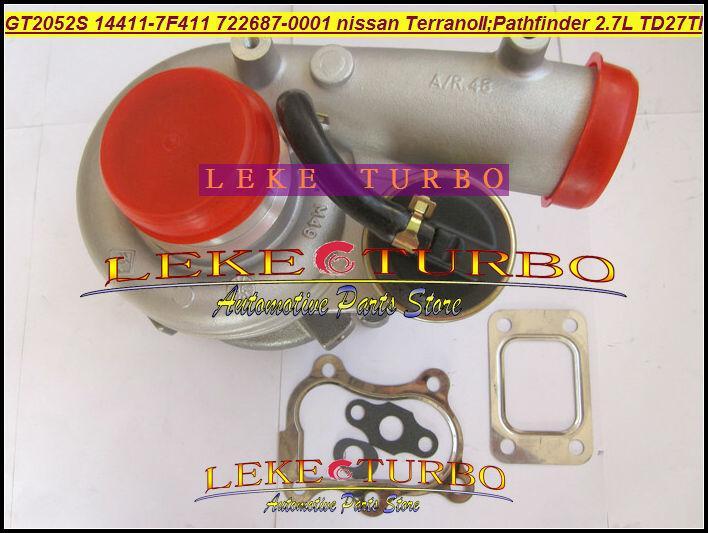 GT2052S 14411-7F411 722687-5001S 722687 turbo Nissan Terrano II 2001 Pathfinder 2.7L 01-05 TD27TI Turbocharger (5)