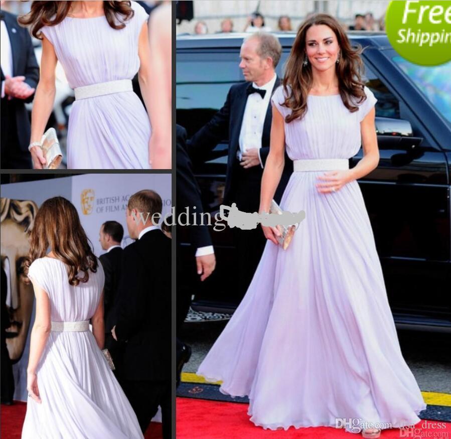 Großhandel Kate Middleton Rote Teppich Kleider Lila Lange Prom ...