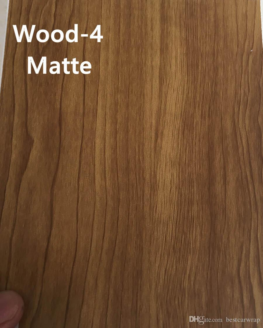 Mat Woodgrain Vinil Wrap Vinil Film hava kabarcığı ücretsiz Tahıl Tahıl Araba Sarma Vinil folyo 3 m kaliteli Boyutu 1.52x20 m / Rulo Ücretsiz Kargo