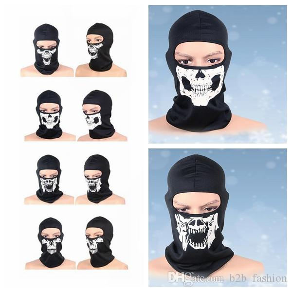 0fe0a0ab5cf Balaclava Beanies Motorcycle Ghost Skull Face Mask Sport Warm Ski Caps  Bicyle Bike Neck Warmer Balaclavas Scarf Full Face Mask KKA2525 Hats And  Caps Beany ...
