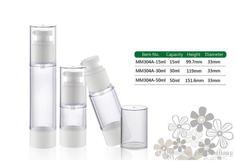 Kostenloser Versand - 30 ml 50 ml Airless-Flasche, Kosmetik-Paket, Emulsionsflaschen, Kosmetikbehälter, Pumpflasche Parfümflasche JF