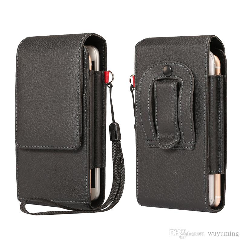 sale retailer 5b562 cbdc4 5.5 inch Universal Waist Bags Men Casual Waist Pack PU leather Dual Phone  Pouch Work Waist Bag for Most Phones