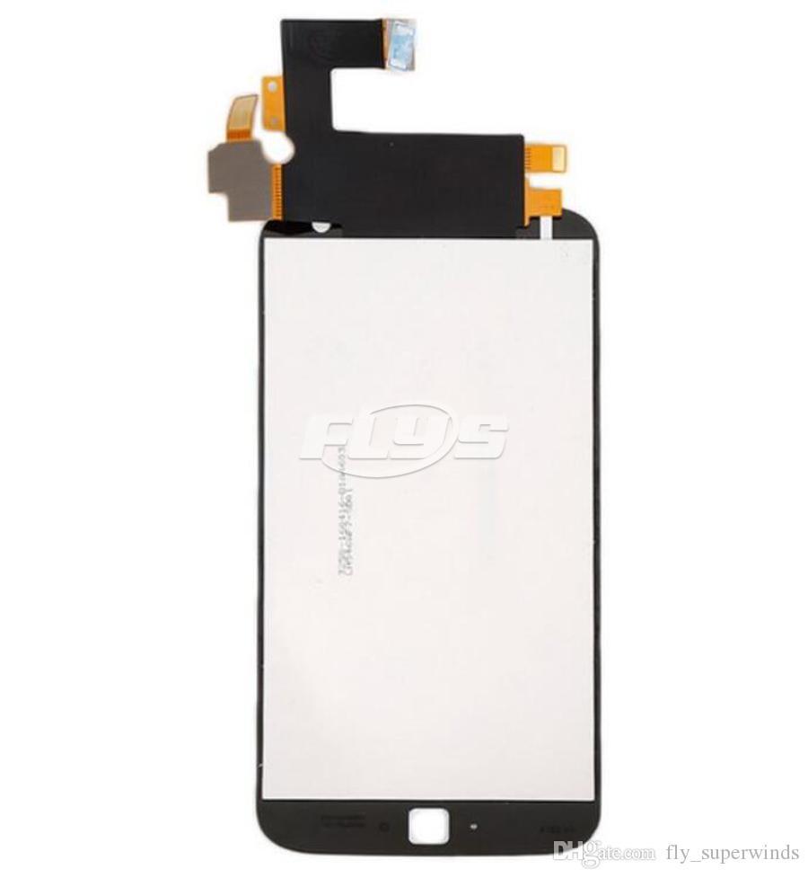 Für motorola moto g4 plus lcd touch display digitizer mit montage ersatzteile schwarz weiß mit rahmen freies dhl