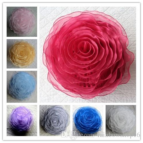 round pillow cushion covers organza pillowcases car chair sofa love gifts home garden decoration decorative pillow rose 40cm large outdoor
