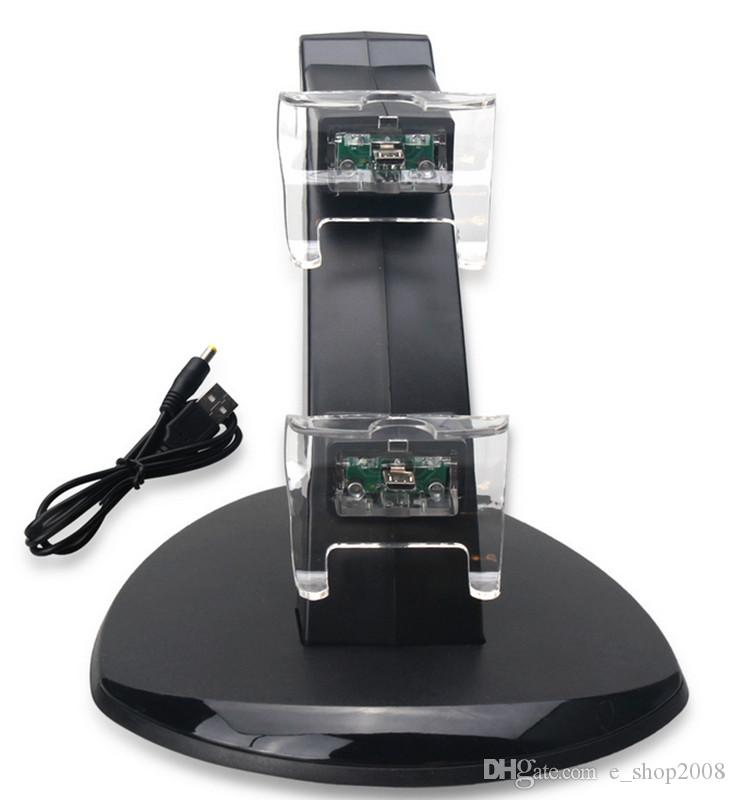 Двойная подставка для зарядки Зарядное устройство USB Док-станция для Playstation DualShock 4 PS4 XBOX ONE Контроллер Геймпад Держатель для крепления Светодиод Самолет