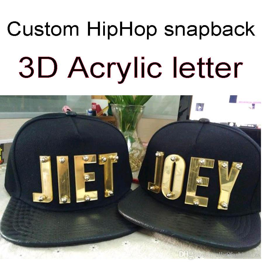 Wholesale PU Custom 3D Letters Golden Men Women New Unisex Adjustable  Baseball Cap DIY NAME Letter Cotton Hip Hop Cool Handsome Hats Vintage  Baseball Caps ... d8ff92062631