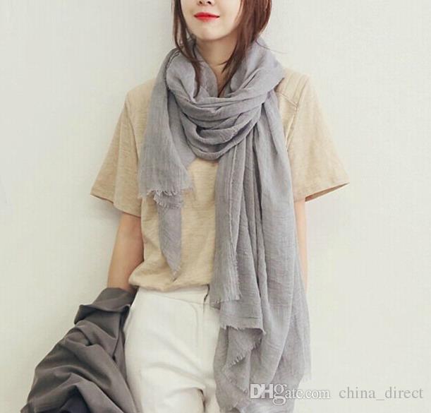 2017 New arrival viscose algodão sólido cachecol poncho wraps xale grande 200 * 110 cm 10 pçs / lote # 2707