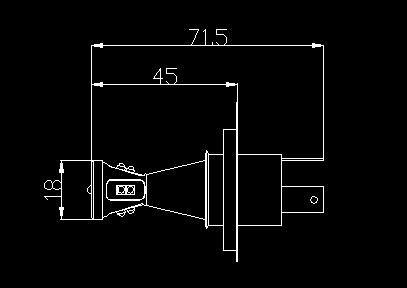 Yeni 12 ~ 24 V 45 W H4 H7 P13 PSX26W PSX24 H16 AB Sis Lambası Xenon Beyaz Için LED Araba Ampuller